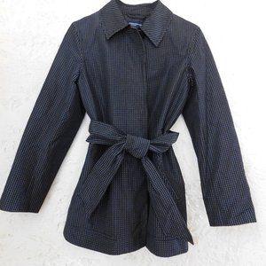 Jones New York black dot raincoat